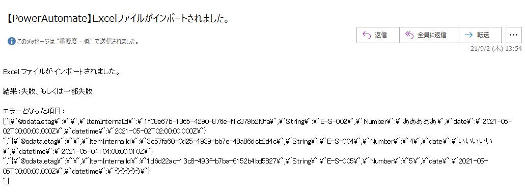 エラー通知メール